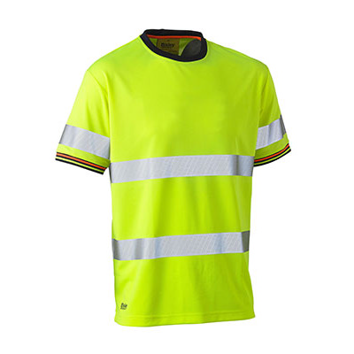 Taped Hi Vis Polyester Mesh Short Sleeve  BK1220T_BSY