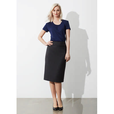 Ladies Classic Below Knee Skirt (BS29323_BIZ)