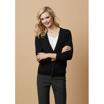 Ladies Woolmix Cardigan (LC8008_BIZ)