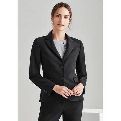 Womens 2 Button Mid Length Jacket 64019_BZC