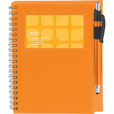 The Star Spiral Notebook with Pen-Stylus - Includes Decoration SM-3497_BUL