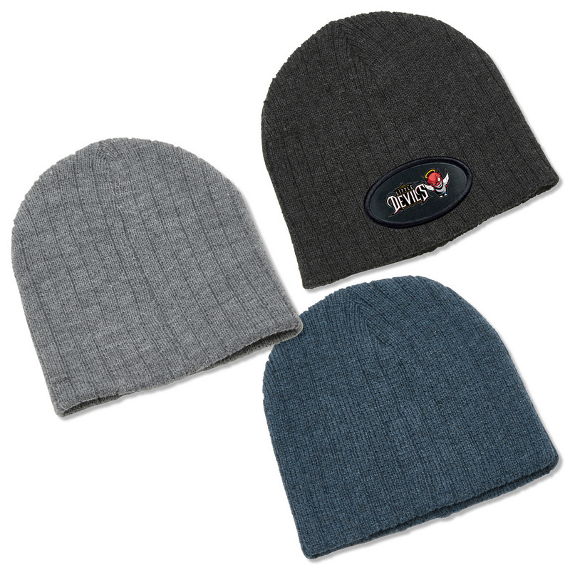 Heather Cable Knit Beanie 4455_LEGEND
