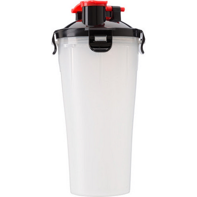 Plastic protein shaker  350ml  with two compartments  (2284_EUB)