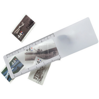 Plastic ruler with magnifier (7702_EUB)