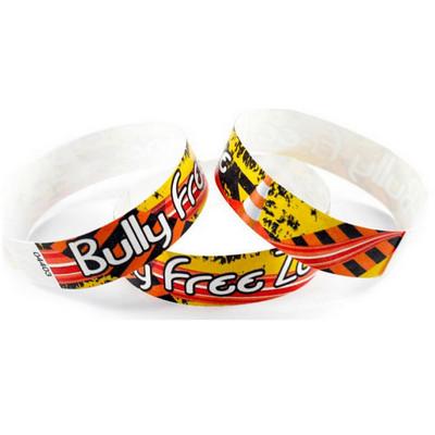 Tyvek Eziband Wristband - Bully Free Zone (WBTYVBFZ_EZI)