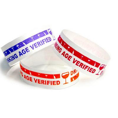Tyvek Eziband Wristband - Drinking Age Verified (WBTYVDRINK_EZI)