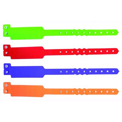 Wideface Shaped Wristbands - Custom Printed - INDENT (WBWFINDENT_EZI)