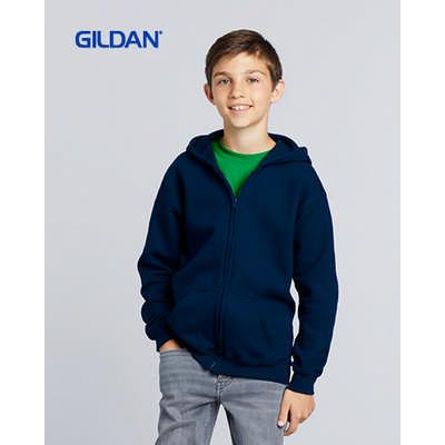 Gildan Heavy Blend Youth Full Zip Hooded Sweatshirt Colours (18600B_COLOURS_GILD)