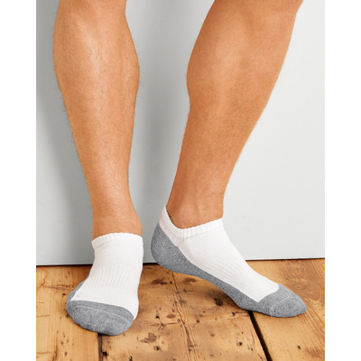 Gildan Platinum Men`s No Show Socks White (GP-711_WHITE_GILD)