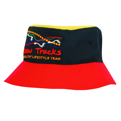 Poly Twill Multi Coloured Bucket Hat (4220_HDW)