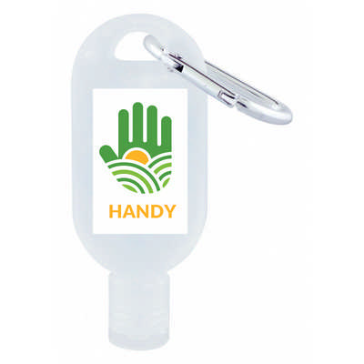 30ml Hand Sanitiser Gel with Carabiner  (H304_PB)