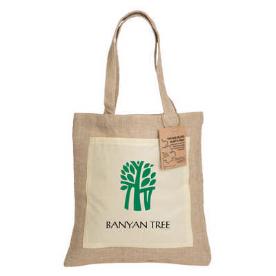 Reforest Jute Tote Bag  (RB301 _PB)