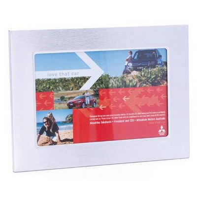 DESK04 Brushed Aluminium Desk Photo Frame (DESK04_OC)