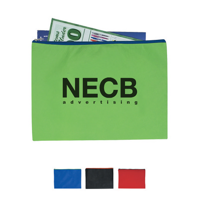 Non-Woven Document Sleeve With Zipper (NWTB3042_OC)