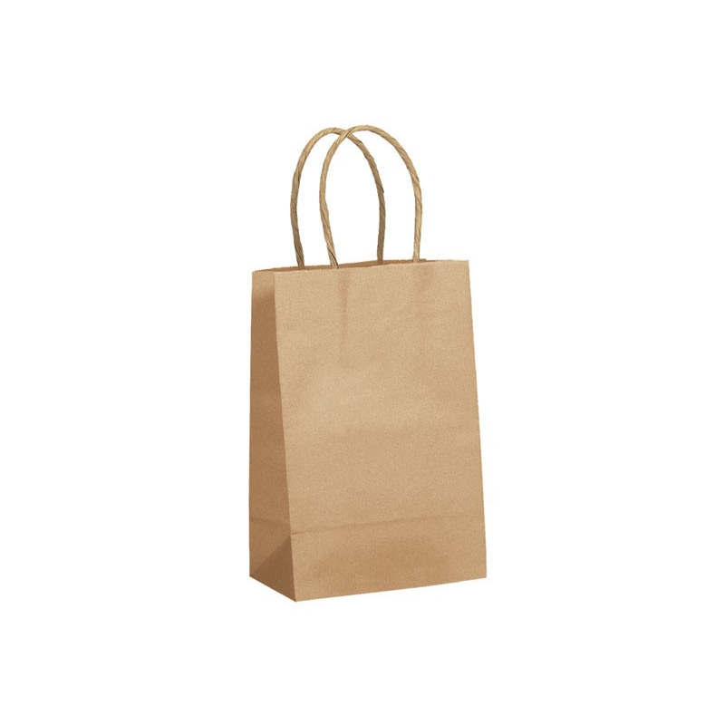 PAPB01KBS Kraft Paper Bag Small Includes Twisted Paper Handle (PAPB01KBS_OC)