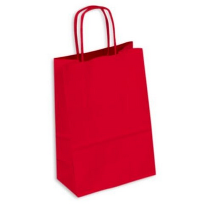 PAPB01KCS Kraft Paper Bag Coloured Small Includes Twisted Paper Handle (PAPB01KCS_OC)