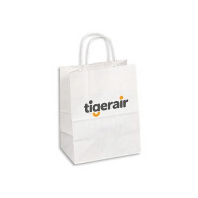 PAPB01KWM Kraft Paper Bag White Medium Includes Twisted Paper Handle (PAPB01KWM_OC)