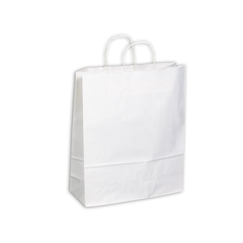 PAPB01KWXL Kraft Paper Bag White Extra Large Includes Twisted Paper Handle (PAPB01KWXL_OC)