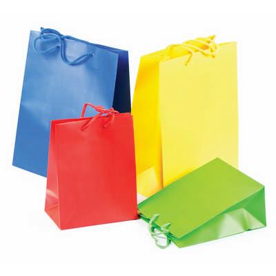 PAPB01MLS Matt Laminated Bag Small With Rope Handle (PAPB01MLS_OC)