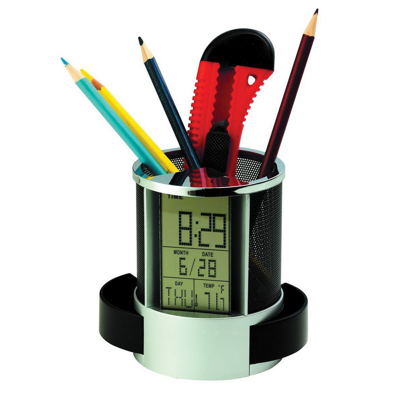 PEHB02 Multifunction Clock With Pen Holder (PEHB02_OC)