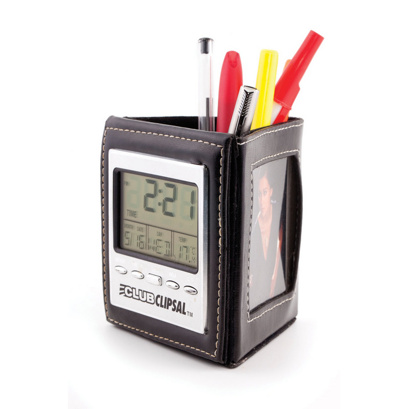 PEHB03 Multifunction Clock With Pen Holder (PEHB03_OC)