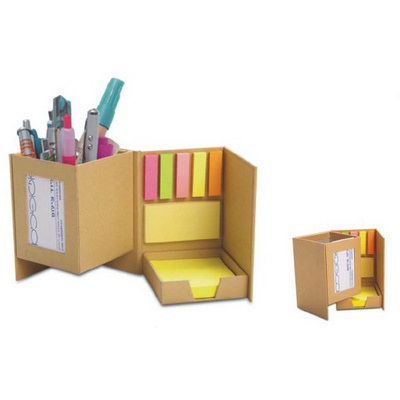 PEHB07 Recycle Paper With Post It Notes Pen Holder (PEHB07_OC)