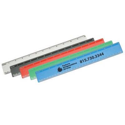 RUS001 Recycled Plastic Ruler 30cm (RUS001_OC)