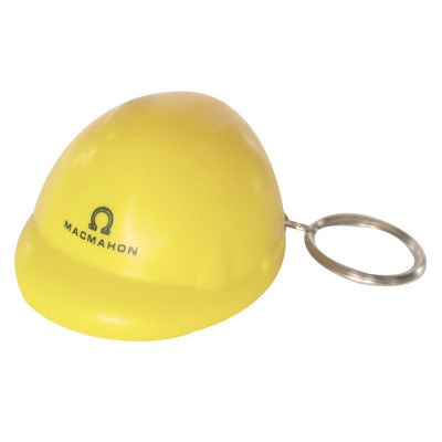 STRS09 Hard Hat Stress Shape On Keyring (STRS09_OC)