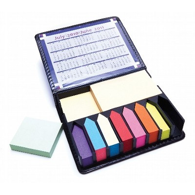DESK15 Post-It-Notes Holder With Case, Calendar And Assorted Notes (DESK15_OC)