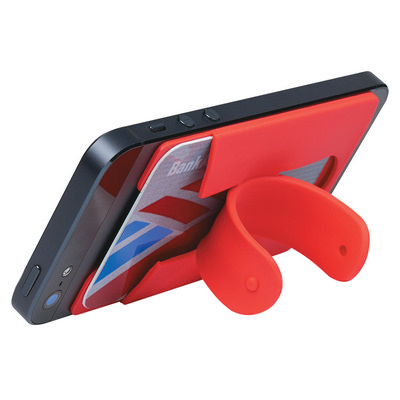 IPHN24 Silicon phone wallet stand (IPHN24_OC)