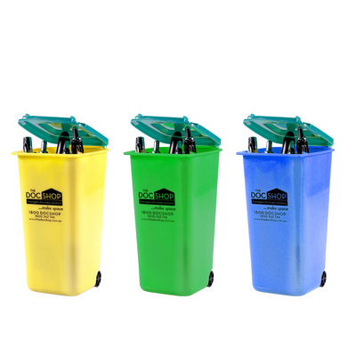 PEHB04 Plastic Wheelie Bin Pen Holder (PEHB04_OC)
