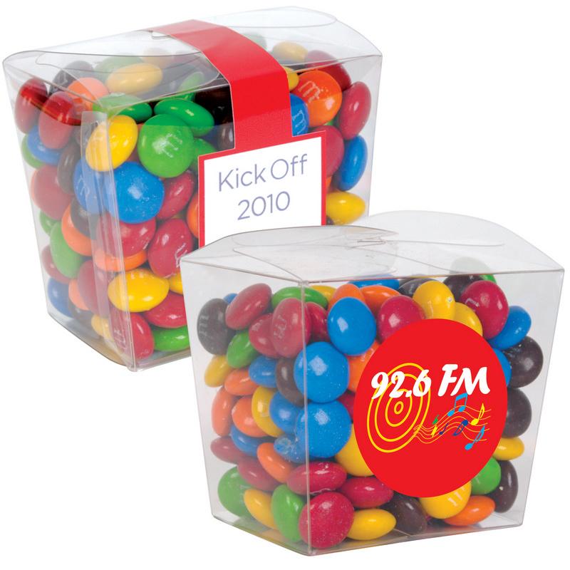 M&M s in Clear Mini Noodle Box LL33022_LLPRINT