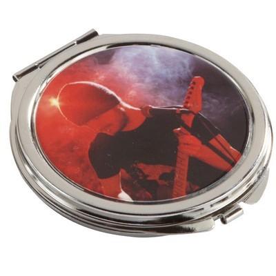 Round Metal Compact Mirror (COS-R06_QZ)
