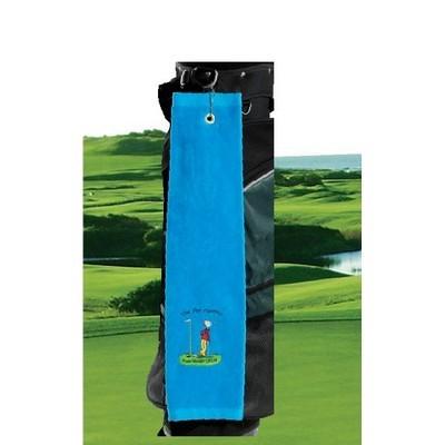 Premium Velour Trifold Golf Towel (GT-04_QZ)