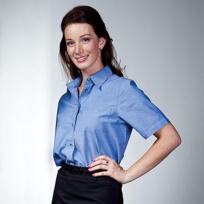 Chambray Ladies S/S Shirt (SHT-W06_QZ)
