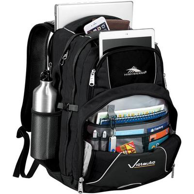 High Sierra Swerve 17 inch Computer Backpack - Includes Decoration HS1001BK_RNG_DEC