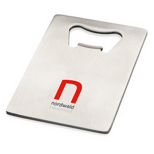 Stainless steel credit card bottle opener - (printed with 1 colour(s)) G1516_ORSO_DEC