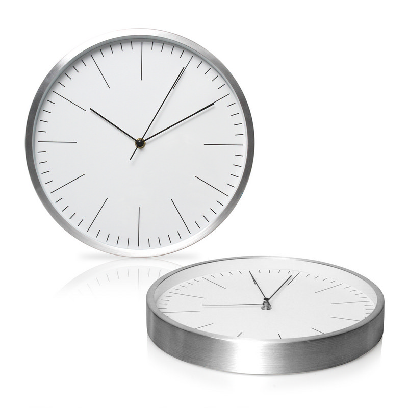 30cm Aluminium Wall Clock (C493_GLOBAL)