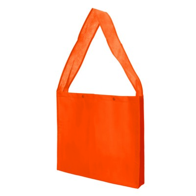 Non Woven Sling Bag - w/press studs and gusset (NWB20-OR_GLOBAL)