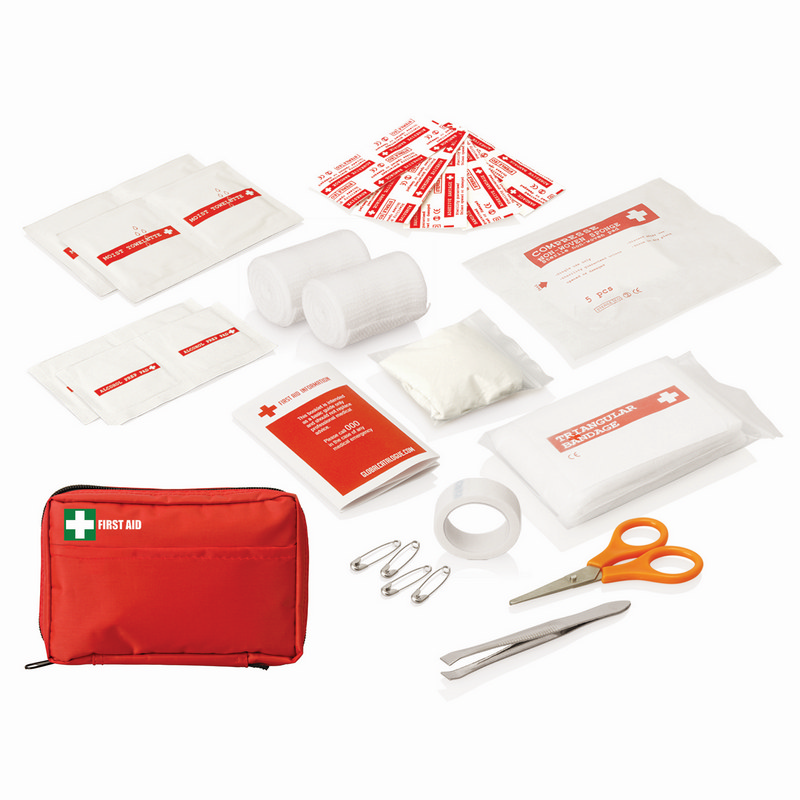 First Aid Kit Carry Pouch 30pc - (printed with 1 colour(s)) FA113_GL_DEC