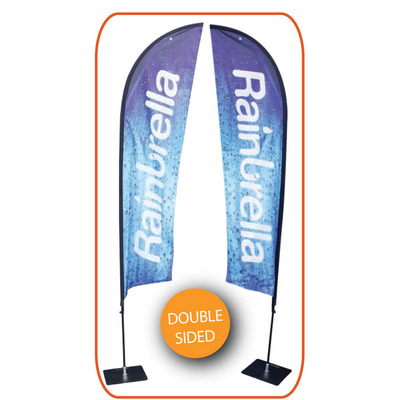 Extra Large Indoor Feather Banner - Double Sided - Includes Decoration SPFB2 XL_PER