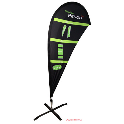 Extra Large Indoor Teardrop Banner - Double Sided Combo - Includes Decoration SPTBX2 L COMBO_PER