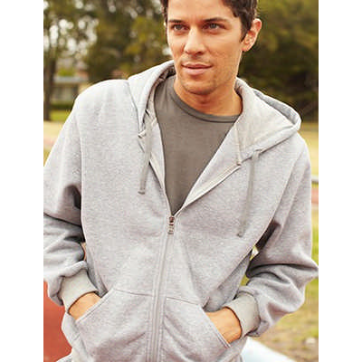 Unisex Adults Zip Through Fleece Hoodie (CJ1062_BOC)