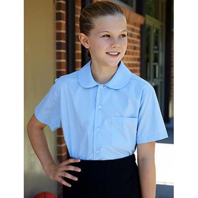 Girls Peter Pan Short Sleeve School Shirt (CS1405_BOC)