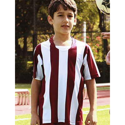Kids Sublimated Striped Football Jersey (CT1101_BOC)
