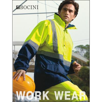 Unisex Adults Hi-Vis Mesh Lining Jacket With Reflective Tape (SJ0432_BOC)