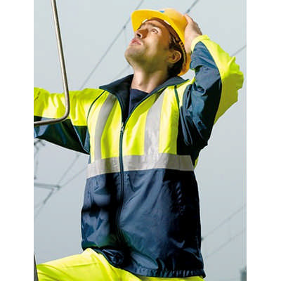 Unisex Adults Hi-Vis 3 In 1 Jacket With Reflective Tape (SJ0642_BOC)