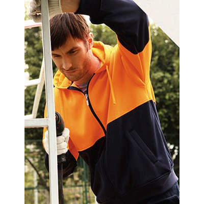 Unisex Adults Hi-Vis Full Zip Hoodie (SJ1104_BOC)