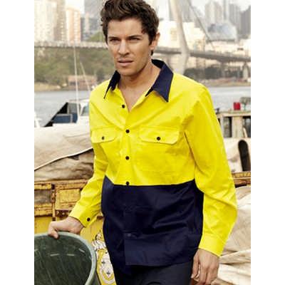 Unisex Adults Hi-Vis Cotton Twill Shirt L/S (SS1013_BOC)