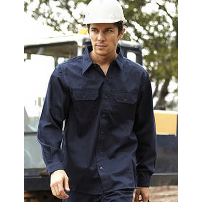 Unisex Adults Cotton Drill Work Shirt L/S (WS0680_BOC)